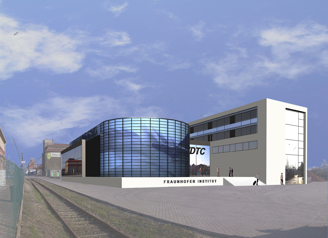 3d Modern Factory Buildings on Industrial Warehouse Exterior